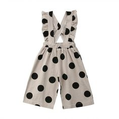 Material: Cotton,PolyesterGender: Baby GirlsSleeve Length(cm): SleevelessClosure Type: Covered ButtonPattern Type: Polka DotMaterial Composition: cottonCollar: O-NeckFit: Fits true to size, take your normal sizeDepartment Name: BabyItem Type: Rompers Baby Jumpsuit, Baby Dress, Ruffle Jumpsuit, Denim Jumpsuit, Jumpsuit For Kids, Backless Jumpsuit, Overall Kind, Mode Outfits, Girl Outfits