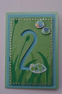 Slider card with number for the birthday!  Love it!