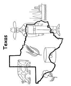 Texas State outline Coloring Page CM Pen Pal Ideas Pinterest