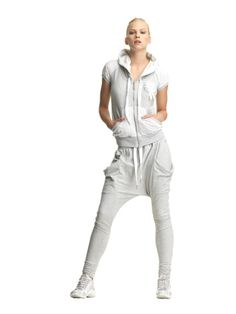 drop crotch leggings with big pockets. fornarina sportglam