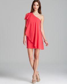 d6b9f15457da AQUA Dress - One Shoulder Ruffle Mini Women - Dresses - Homecoming -  Bloomingdale s