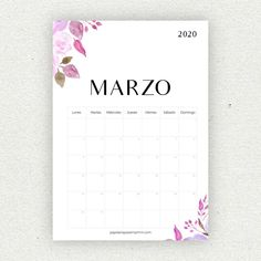Printable Calendar 2020, School Calendar, Printable Paper, Bullet Journal Printables, Bullet Journal School, Diy Agenda, Calendar Activities, Life Journal, Diy Gifts For Him