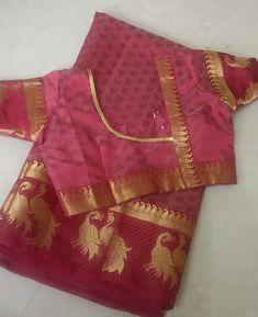 Latest Blouse Neck Designs, Back Neck Designs, Blouse Designs Catalogue, Pattu Saree Blouse Designs, Blouse Patterns, Blouse Styles, Simple Designs, Geometry Formulas, Blouses