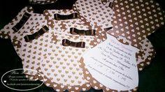 Modelo Yasmim - CI#05: Convite Infantil. Tamanho: 10x10cm (fechado), em formato especial de Vestidinho.