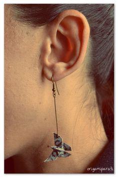 Mariposas de origami _ pendientes / earrings