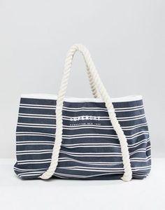 Superdry Stripe Beach Tote Bag