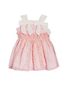 Miniclasix Infant Girls' Lace Bow Strap Dress & Bloomers Set - Sizes 3-24 Months | Bloomingdale's
