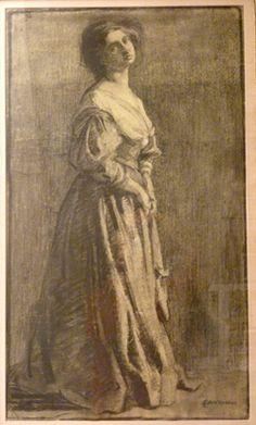 Edith Lake Wilkinson - figure sketch
