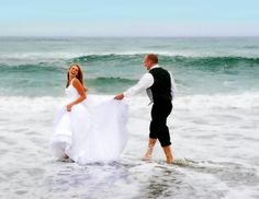 Beach wedding, Bodega Bay Beach Trash the Dress, photo by Ponce's Portraits, bride and Groom