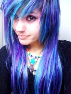 Black And Blue Scene Hair Leda 1000+ images about Led...