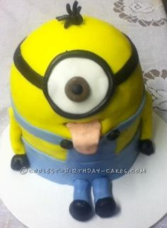 Coolest Minnion Birthday Cake... This website is the Pinterest of birthday cake ideas