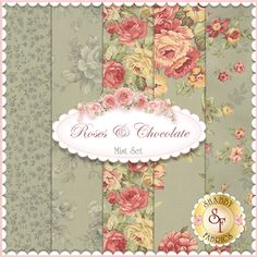 Roses & Chocolate  5 FQ Set - Mist by Sentimental Studios for Moda Fabrics