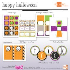 It's Written on the Wall: {Freebie} Fun Halloween treat bags & toppers plus Party Printables Diy Halloween, Fun Halloween Treats, Halloween Banner, Halloween Birthday, Holidays Halloween, Halloween Costumes For Kids, Happy Halloween, Halloween Decorations, Halloween Clothes
