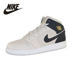 NIKE Original  New Arrival  Air Jordan 1 Mid GS Mens&Womens Basketball Shoes  For Men& Women#554725-023 554724-600 #Affiliate