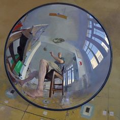 Self portrait in convex mirror, 2008 by Amnon David Ar on Curiator, the world's biggest collaborative art collection. Perspective Photography, Reflection Photography, Reflection Art, Self Portrait Drawing, Portrait Art, Mirror Painting, Mirror Art, Convex Mirror, Photography Themes
