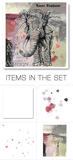 """For Loves Elephants"" by dorataya ❤ liked on Polyvore featuring art, dedication, valentinesday and loveselepants"