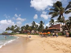 On Poipu Beach And A View Of The Waiohai Marriott Club Resort