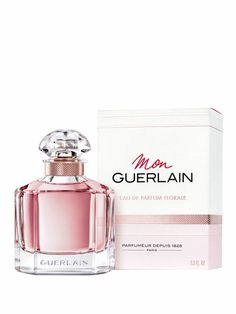 Apa de parfum Guerlain Mon Guerlain florale, pentru femei - 100 ml.  Note: bujor, iasomie, vanilie, note lemnoase; Perfume Bottles, Fragrance, Floral, Beauty, Flowers, Perfume Bottle, Beauty Illustration, Flower, Perfume