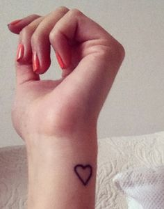 If i ever get a tatoo, this will most likely be it. Plain and simple. Pretty Tattoos, Love Tattoos, Beautiful Tattoos, Tatoos, Love Wrist Tattoo, Get A Tattoo, 3 Tattoo, Tattoo Simple, Placement Tattoo