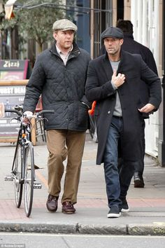 The boys are back! He's currently embroiled in a custody battle with his ex wife, Madonna but film director Guy Ritchie took his mind off things with a lads' day out in Soho, London, with Jason Statham earlier this month