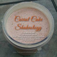 carrot cake shakeology using vegan tropical strawberry shakeology