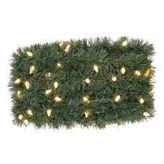 Holiday Living Indoor/Outdoor Pre-Lit 36-ft L Soft Pine Garland with White Led Lights