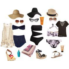 style report, swim wear,created by hana-cermakova on Polyvore