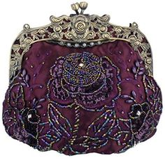 New Trending Make Up Bags: Belsen Womens Vintage Beaded Sequin Flower Evening Handbags (Purple). Belsen Women's Vintage Beaded Sequin Flower Evening Handbags (Purple)  Special Offer: $26.94  244 Reviews Dimension: 7.5″ L x 7″ H x 4″ W This antique beaded evening bag is perfect for black tie events or occasion party. There is a black seed bead rose design...