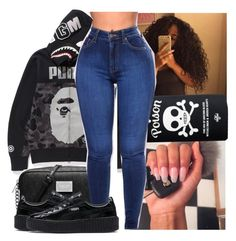 """"""""""" by theyknowniyaaa ❤ liked on Polyvore featuring A BATHING APE, MICHAEL Michael Kors and Puma"""