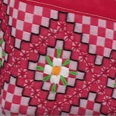 Passo a passo de como bordar vários pontos com fita, sianinha, linha Hand Embroidery Stitches, Cross Stitch Embroidery, Embroidery Patterns, Bordado Tipo Chicken Scratch, Chicken Scratch Embroidery, Swedish Weaving, Gingham Fabric, Leather Carving, Freeform Crochet