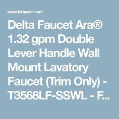Delta Faucet Ara® 1.32 gpm Double Lever Handle Wall Mount Lavatory Faucet (Trim Only) - T3568LF-SSWL - Ferguson