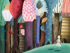 Claudia Legnazzi, forêt - When I have a daughter someday, I want this awesome forest scene on the wall!