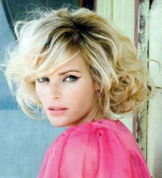 Short Curly Hairstyles With Bangs 2012 Short Blonde, Short Curly Hair, Short Hair Cuts, Curly Hair Styles, Curly Bob, Blonde Curls, Curls Hair, Thick Hair, Curly Blonde