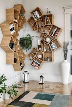 Wood Mandala Bookcase Design ★ When it comes to home decor projects, every single detail plays a crucial role, and bookcase is no exception. Check out the compilation of the latest bookcase arrangements to make your home design perfect. Wood Interior Design, Interior Design Living Room, Living Room Designs, Interior Decorating, Bookcase Decorating, Decorating Ideas, Decor Ideas, Bookshelf Design, Creative Bookshelves