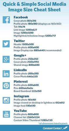Les dimensions des images sur les principaux réseaux sociaux
