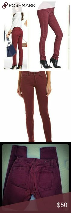 NWOT CAbi Bordeaux Wash Curvy Skinny Jeans 126 New With out tags. Excellent condition No rips, holes or stains.  My measurements are:  Waist - 28 inches Rise -  8-1/2 inches Inseam -  30 inches CAbi Jeans Skinny