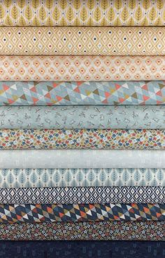 Basic Grey, Persimmon, Blueberry in FAT QUARTERS 12 Total