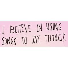 songs to say things