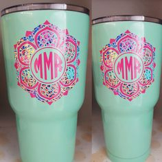 Check out this item in my Etsy shop https://www.etsy.com/listing/469038445/yeti-monograms-decal-lily-inspired-decal