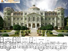 Luxury Floor Plans, Luxury House Plans, Luxury Homes Dream Houses, Dream House Plans, Castle Floor Plan, House Plans Mansion, Castle House Plans, Weekend Cottages, Le Palace