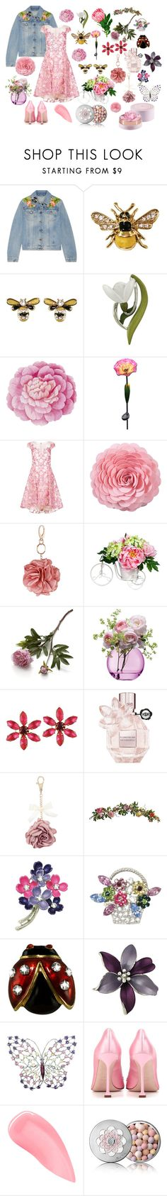 """""""In the Garden"""" by eternal-collection on Polyvore featuring Gucci, Ballard Designs, Alpine, Notte by Marchesa, Saro, Miss Selfridge, Nearly Natural, Crate and Barrel, LSA International and Viktor & Rolf"""