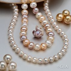 The most familiar #pearl colors are white and cream, but pearl colors can extend to virtually every hue.