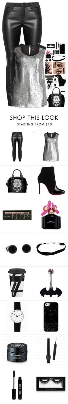 """""""Shayne Of the Dead #53"""" by nikkimarie-1123 ❤ liked on Polyvore featuring Manon Baptiste, Christian Louboutin, Marc Jacobs, Lenox, Rosendahl, Casetify, Lord & Berry, Inglot, plus and plussize"""