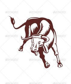 Angry Texas Longhorn Bull Charging  #GraphicRiver         Illustration of an angry texas longhorn bull charging and attacking on isolated white background done in retro style. Editable EPS8 (you can use any vector program) and JPEG (can edit in any graphic editor) files are included.     Created: 19July13 GraphicsFilesIncluded: JPGImage #VectorEPS Layered: No MinimumAdobeCSVersion: CS Tags: TexasLonghorn #angry #animal #attacking #bull #charging #cow #illustration #isolated #longhorn #retro…