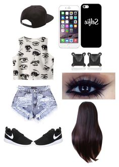"""""""done"""" by oneofthebest ❤ liked on Polyvore featuring Chicnova Fashion, NIKE, Vans, Casetify and Eva Fehren"""