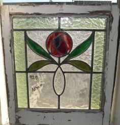 Stained glass flower.