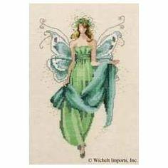 Mirabilia Nora Corbett Cross Stitch Chart ~ AUGUST PERIDOT FAIRY #