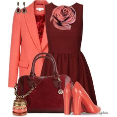 """""""Terracotta Scarf"""" by angkclaxton on Polyvore"""