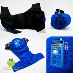 """My little one is way out of diapers but I have to pin just because!    ~Doctor Who cloth diaper. """"It's bigger on the inside."""""""