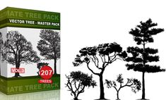 Vol.3 : Tree Vector & Brush Pack